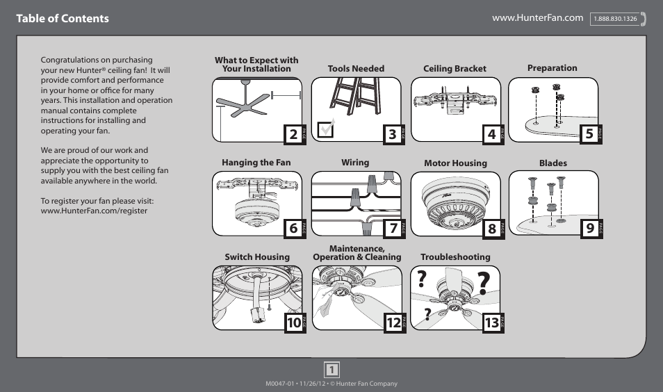 Hunter 51062 42 Low Profile User Manual