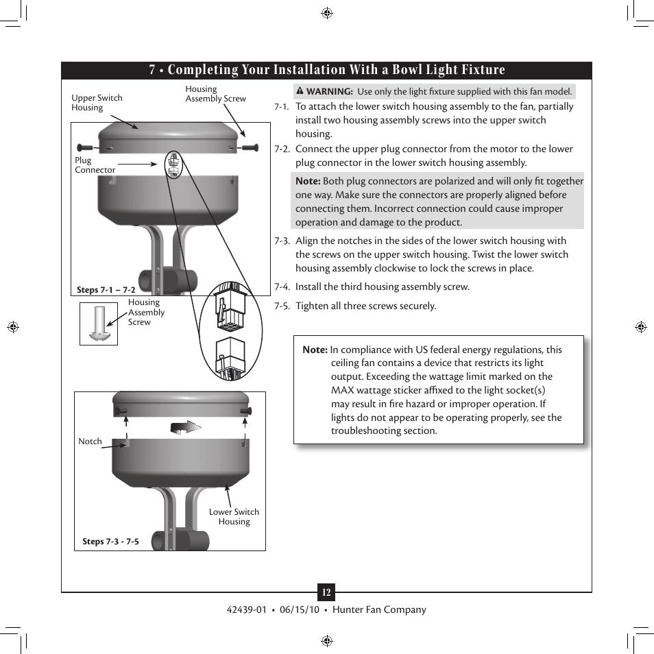 Hunter 28680 52 Waldon Five Minute Fan User Manual Page
