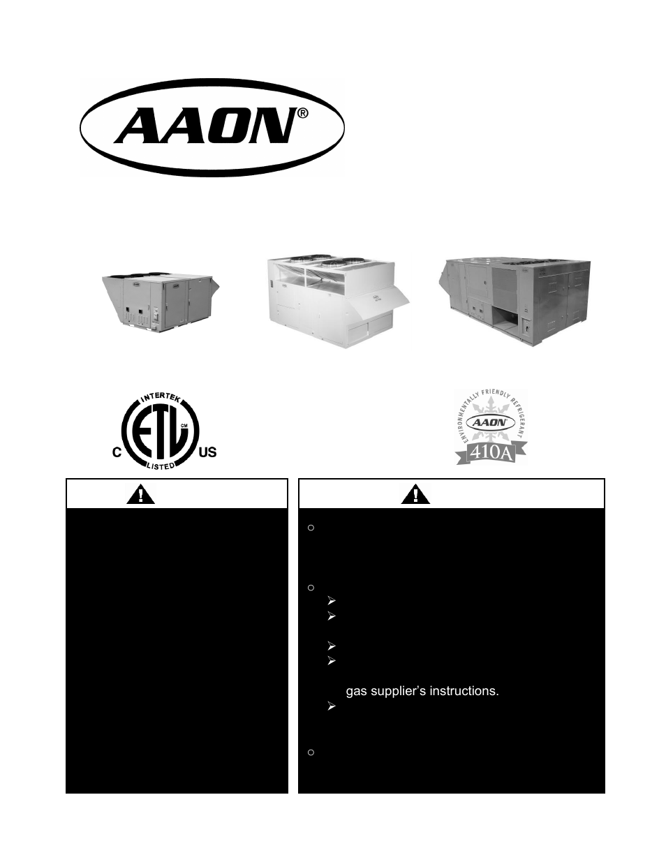 AAON RN-140 User Manual | 116 pages | Also for: RN-130, RN-120, RN-105, RN-090,  RN-075, RN-070, RN-065, RN-060, RN-55, RN-050, RN-040, RN-031, RN-030, ...
