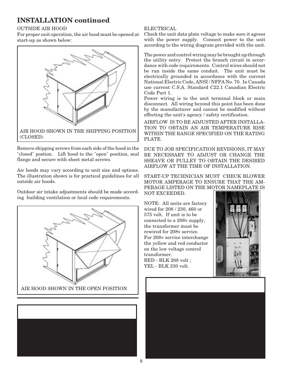 Warning, Caution | AAON RK-60 User Manual | Page 8 / 24 on