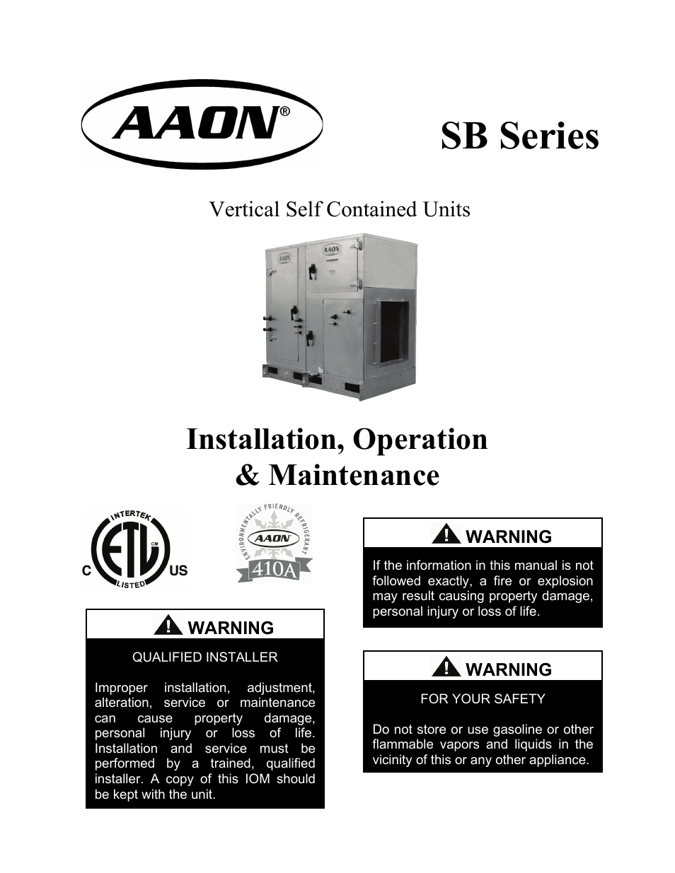 aaon rm series service manual