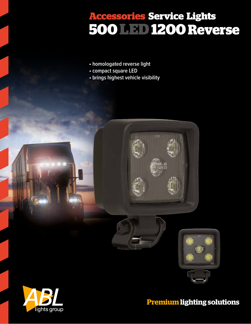 Abl Lights Group 500 Led 1200 Reverse User Manual 2 Pages