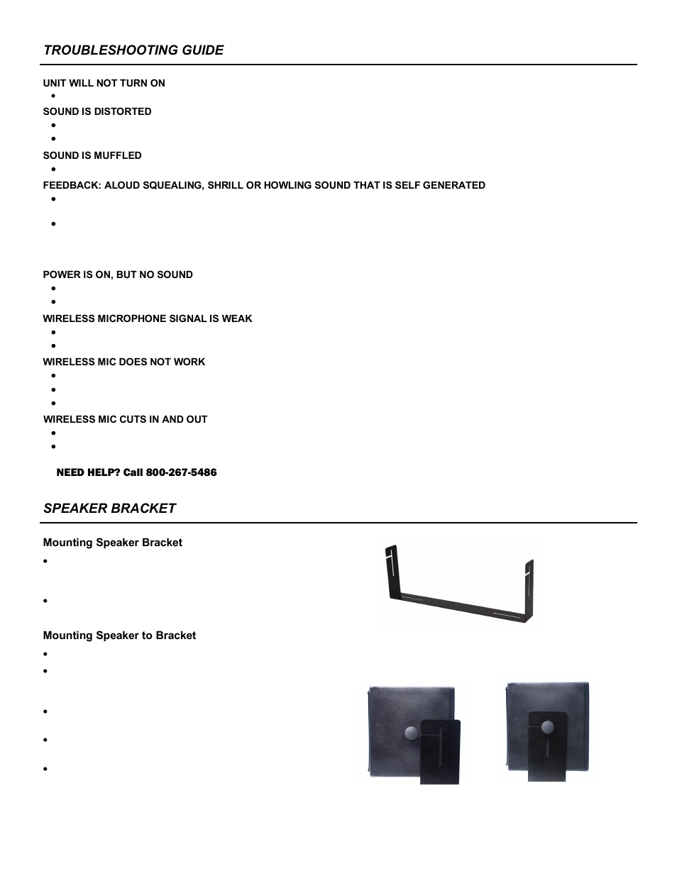 ... Array - speaker bracket troubleshooting guide amplivox sw1230 user  manual rh manualsdir com
