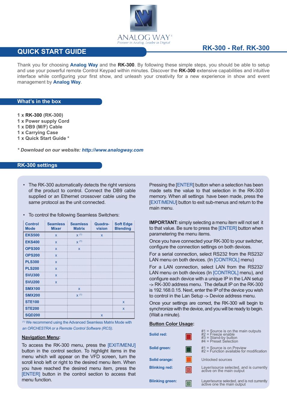 Delux U00ae Rk Manual Guide