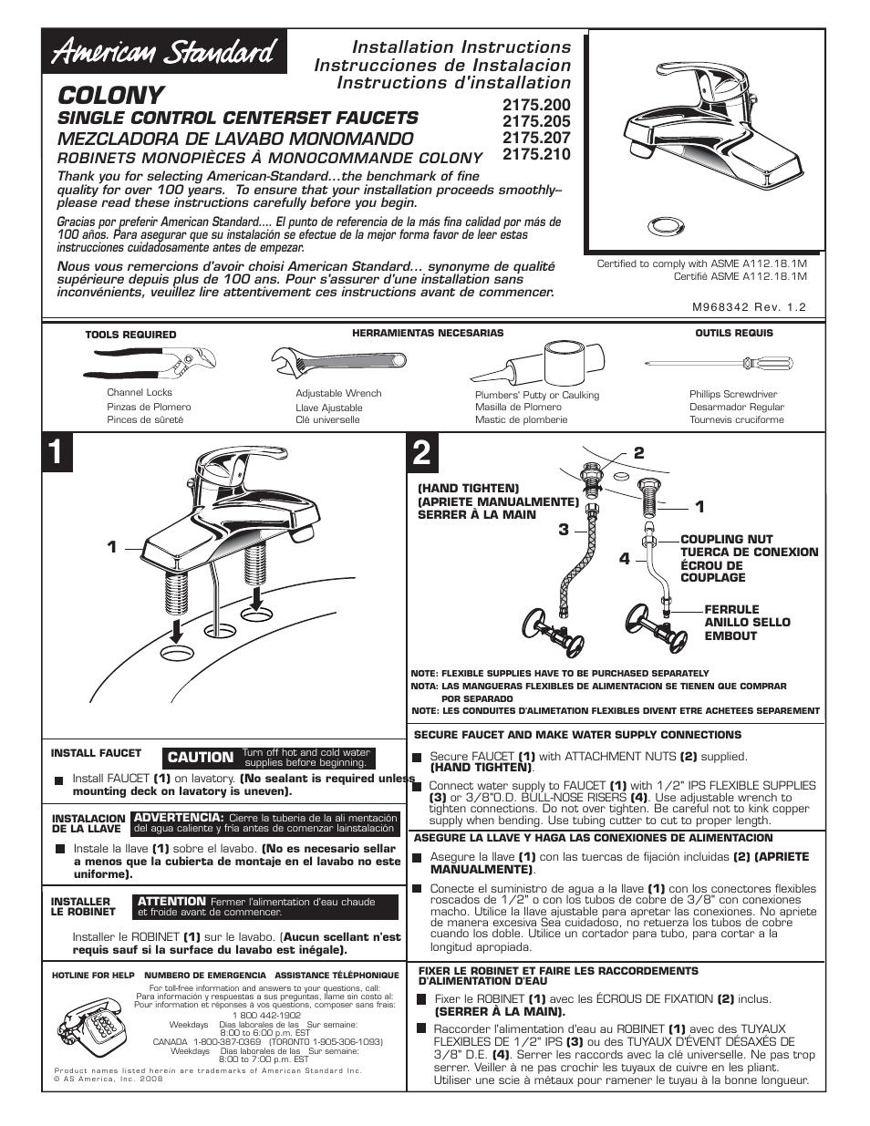 american standard 2175 21 user manual 2 pages original mode rh manualsdir com american standard heat pump user manual fender stratocaster american standard user manual