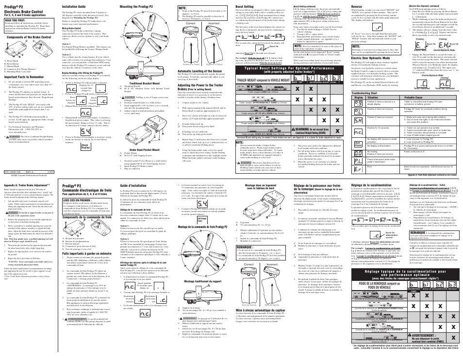 drawtite 90885 prodigy p2 user manual  2 pages