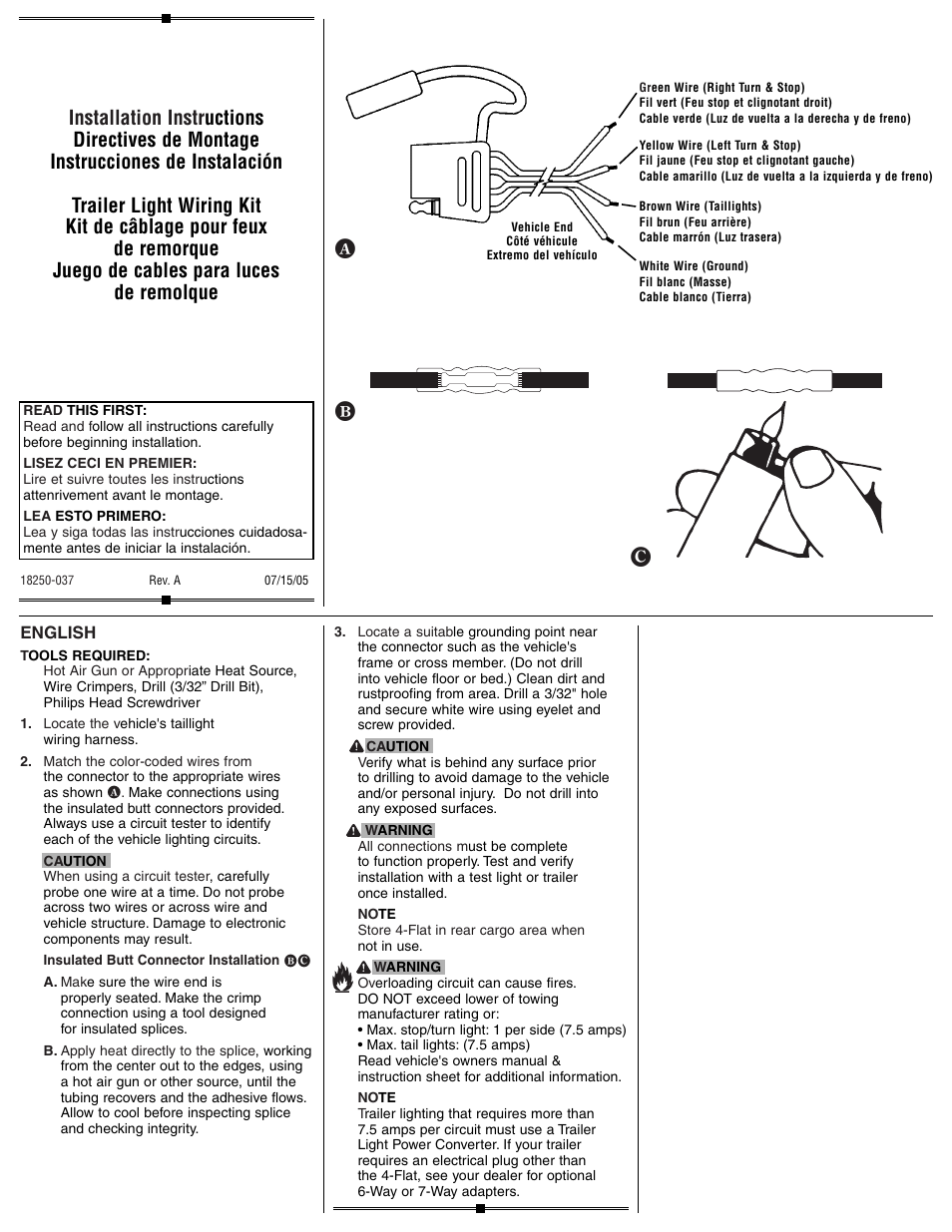Draw-Tite 20252 4-FLAT WIRING KIT User Manual | 2 pages