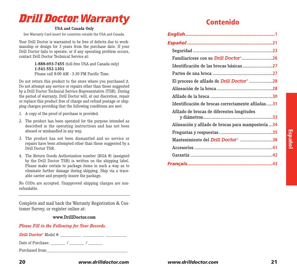 drill doctor 350x user manual page 12 35 rh manualsdir com Countersink Drill Doctor 350X Countersink Drill Doctor 350X