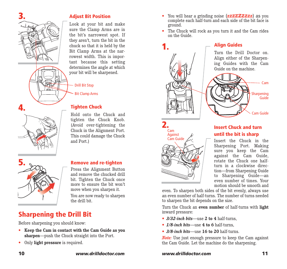 sharpening the drill bit drill doctor 750x user manual page 7 rh manualsdir com Bahco Drill Doctor 350 drill doctor 750x owners manual