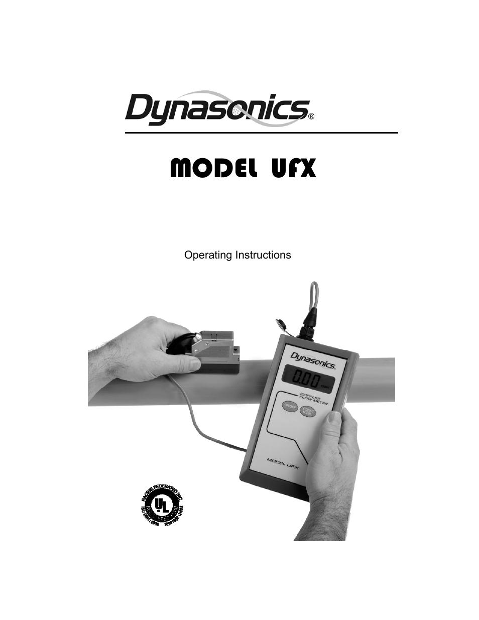dynasonics ufx ultrasonic flow meter user manual