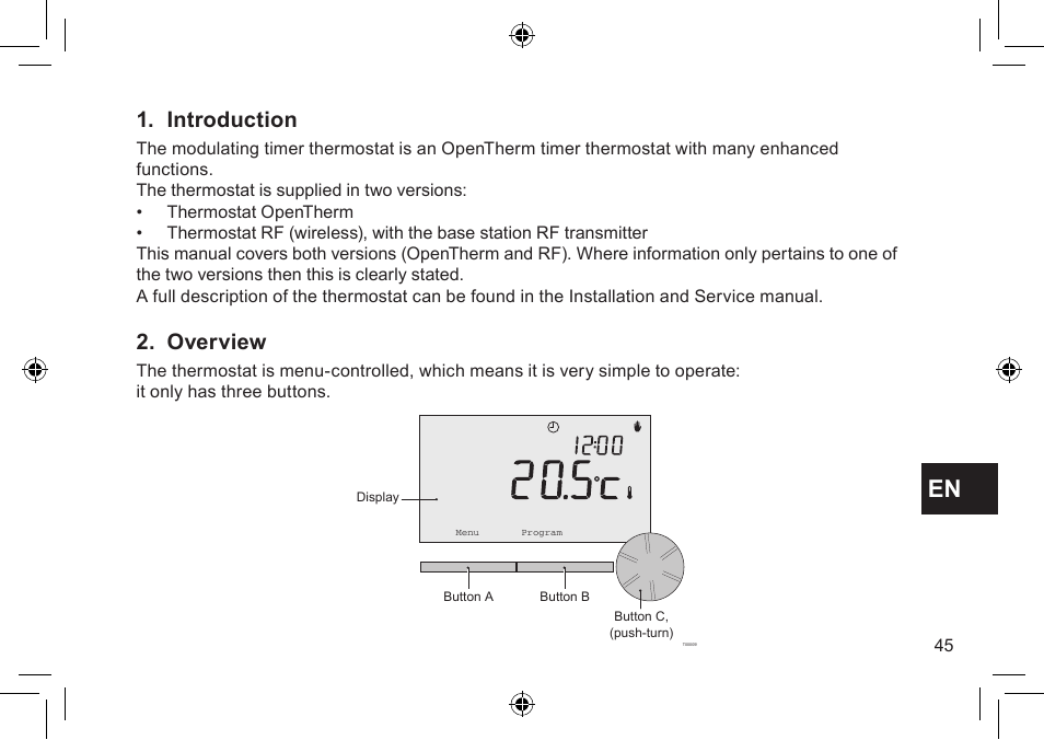 Introduction, Overview | DE DIETRICH Thermostat modulant d ...