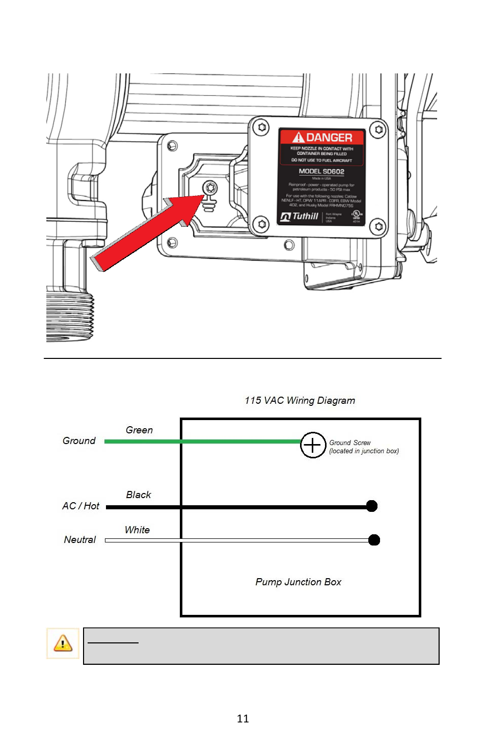 Ac Wiring Diagram Pump Junction Box Fill Rite Fr600g Series Phone Wire Transfer Pumps User Manual Page 11 80