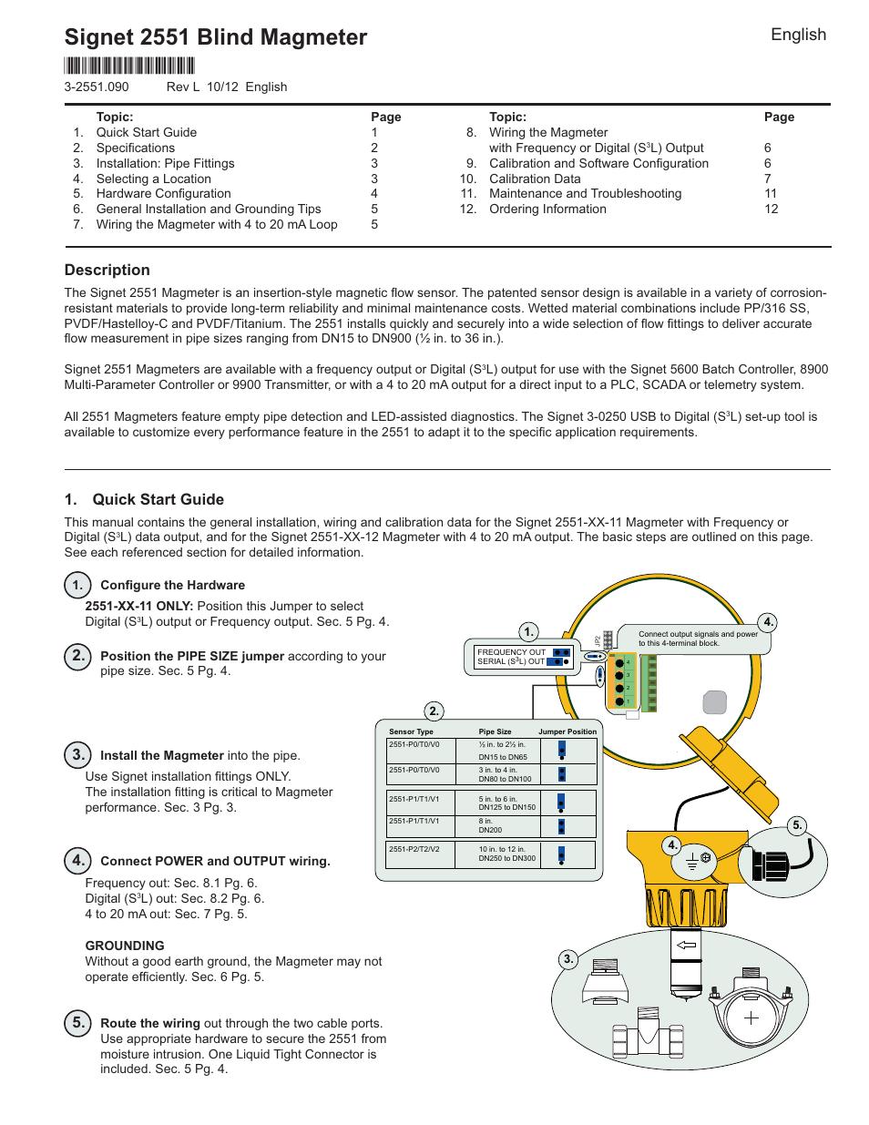 gf signet 2551 magmeter flow sensor blind user manual t1 wiring diagram pdf t1 wiring digital #6
