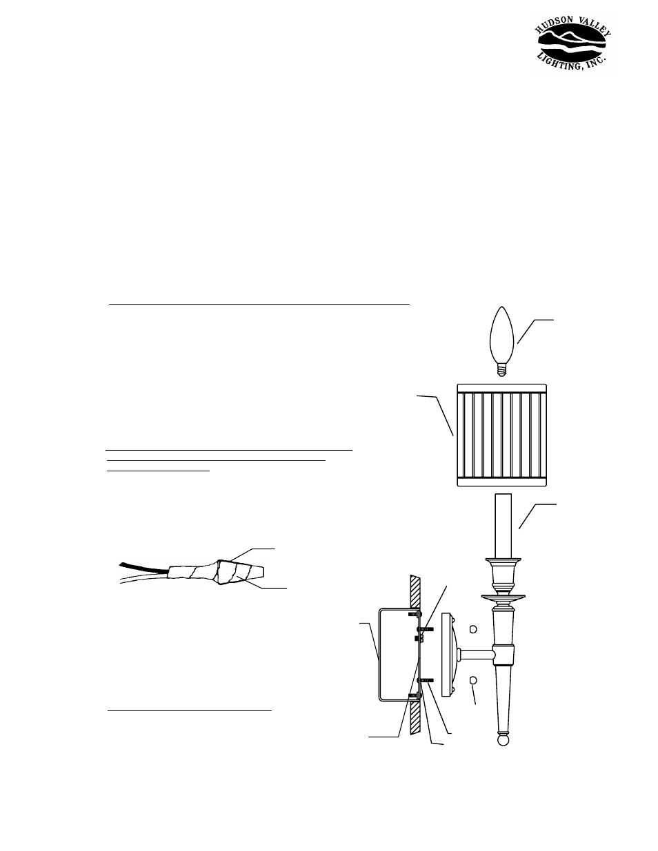Hudson Valley Lighting Abington 4901 User Manual 1 Page Also For Fuse Box Short Circuit Along With How To Wire An Electrical Outlet 4902