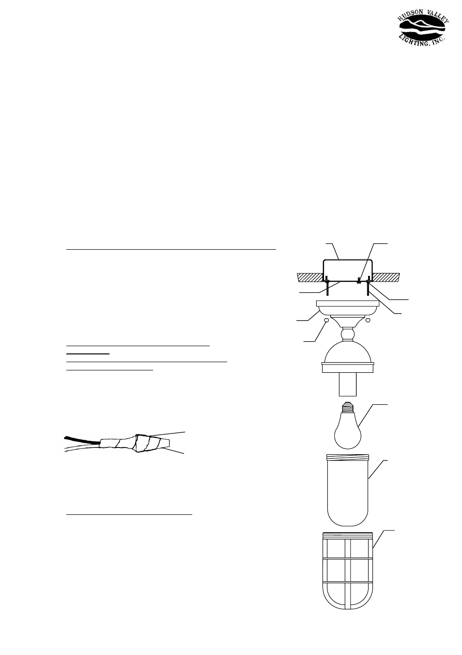 Hudson Valley Lighting Groton 3011 User Manual 1 Page Wiring A Light Fixture From An Outlet