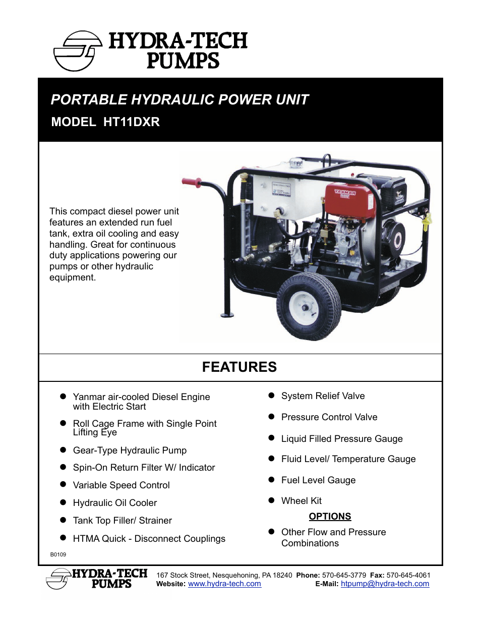 Hydra-Tech HT11DXR User Manual | 2 pages