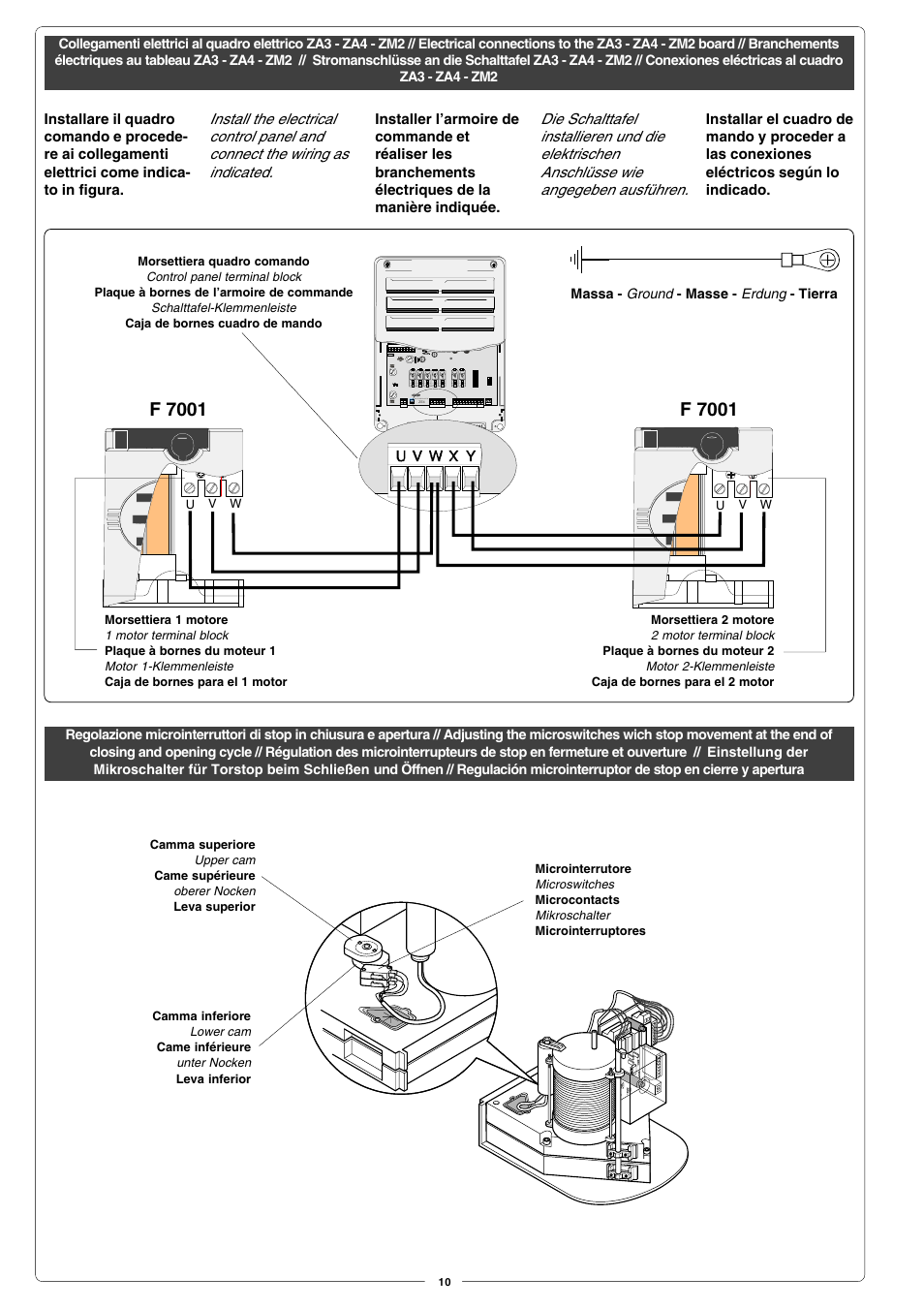 F 7001   CAME Fast User Manual   Page 10 / 24