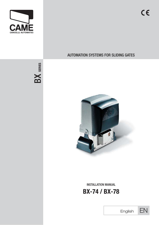 came bx 78 kit user manual 24 pages also for bx 74. Black Bedroom Furniture Sets. Home Design Ideas
