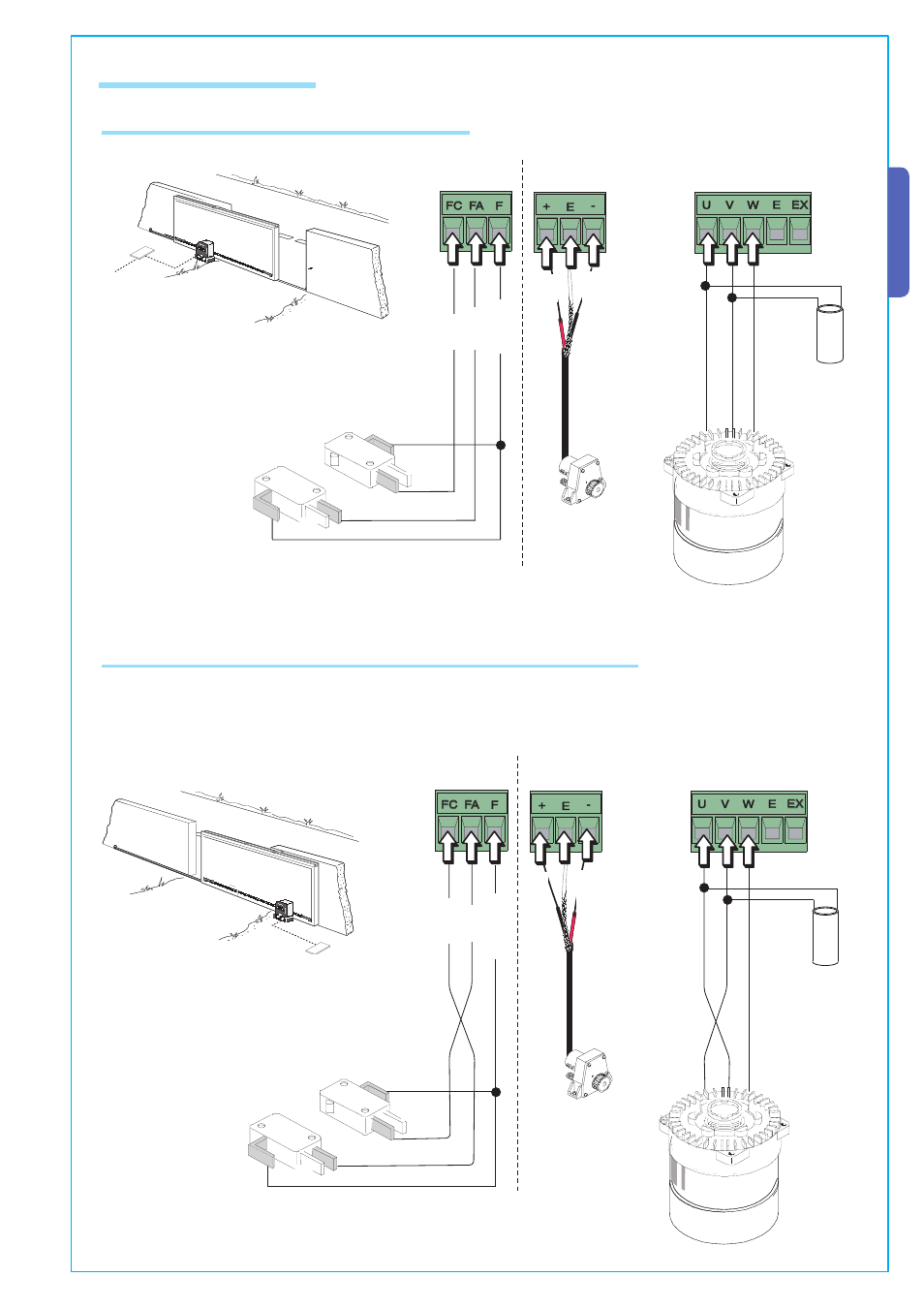 English 3 Electrical Connections Connection For Gear Motor Limit Switch Schematic Or Encoder Came Bke 2200 Kit User Manual Page 9 22