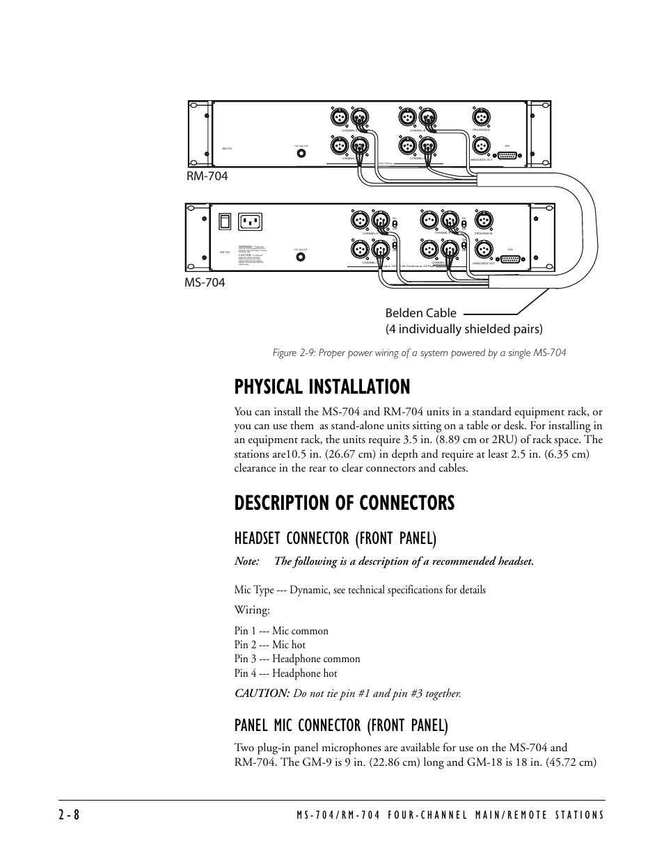 Clear Com 4 Pin Wiring Wire Center Headset Diagram Physical Installation Description Of Connectors Connector Rh Manualsdir 7 Review