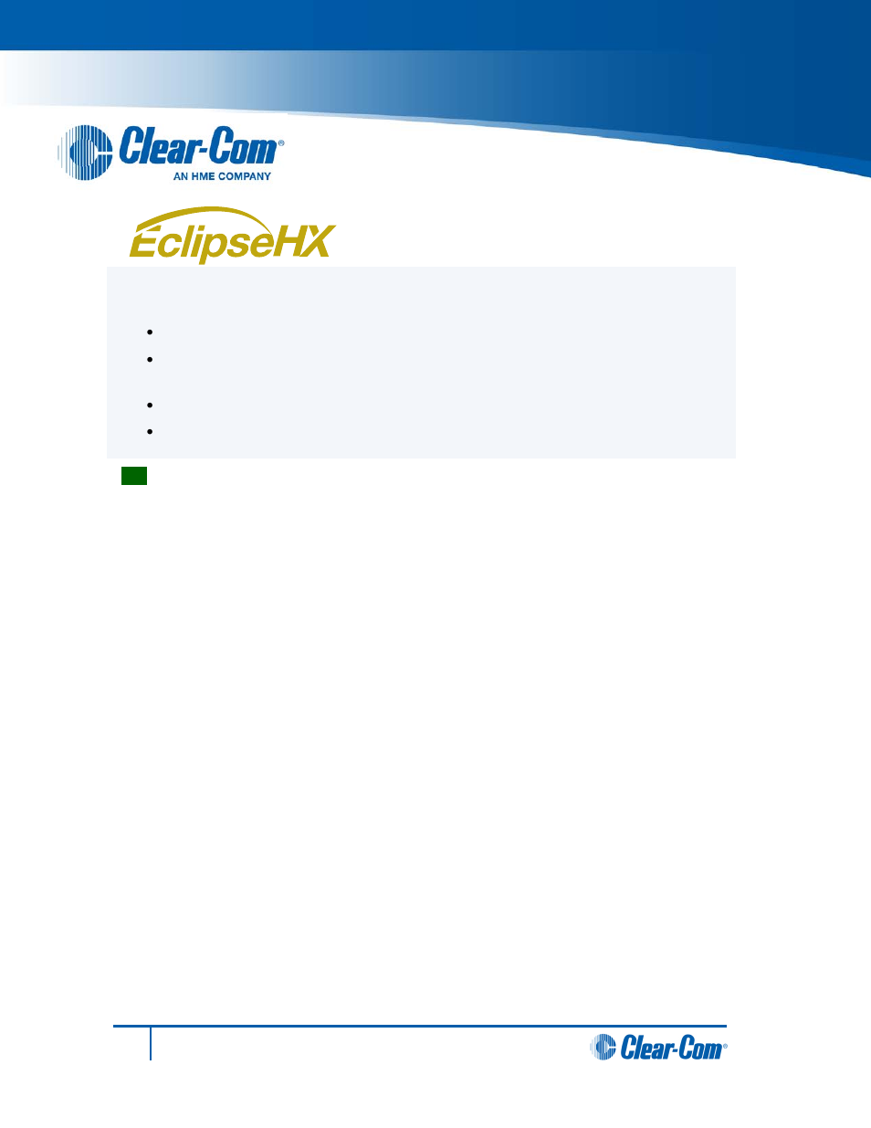 clear com hx system frames user manual 4 pages also for eclipse rh manualsdir com Quick Reference Guide Quick Reference Guide Template