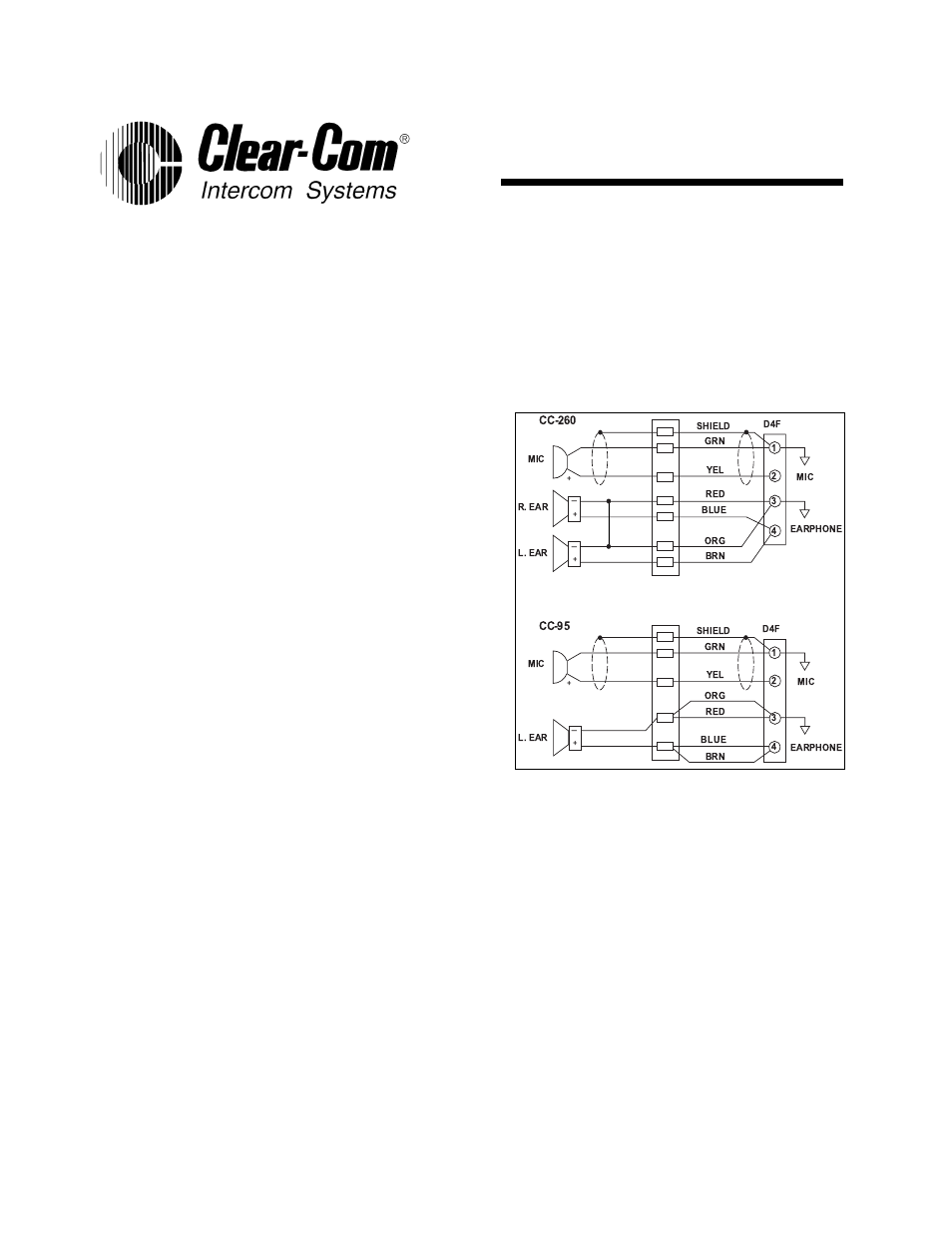 clear com cc 260  no longer available  user manual 2