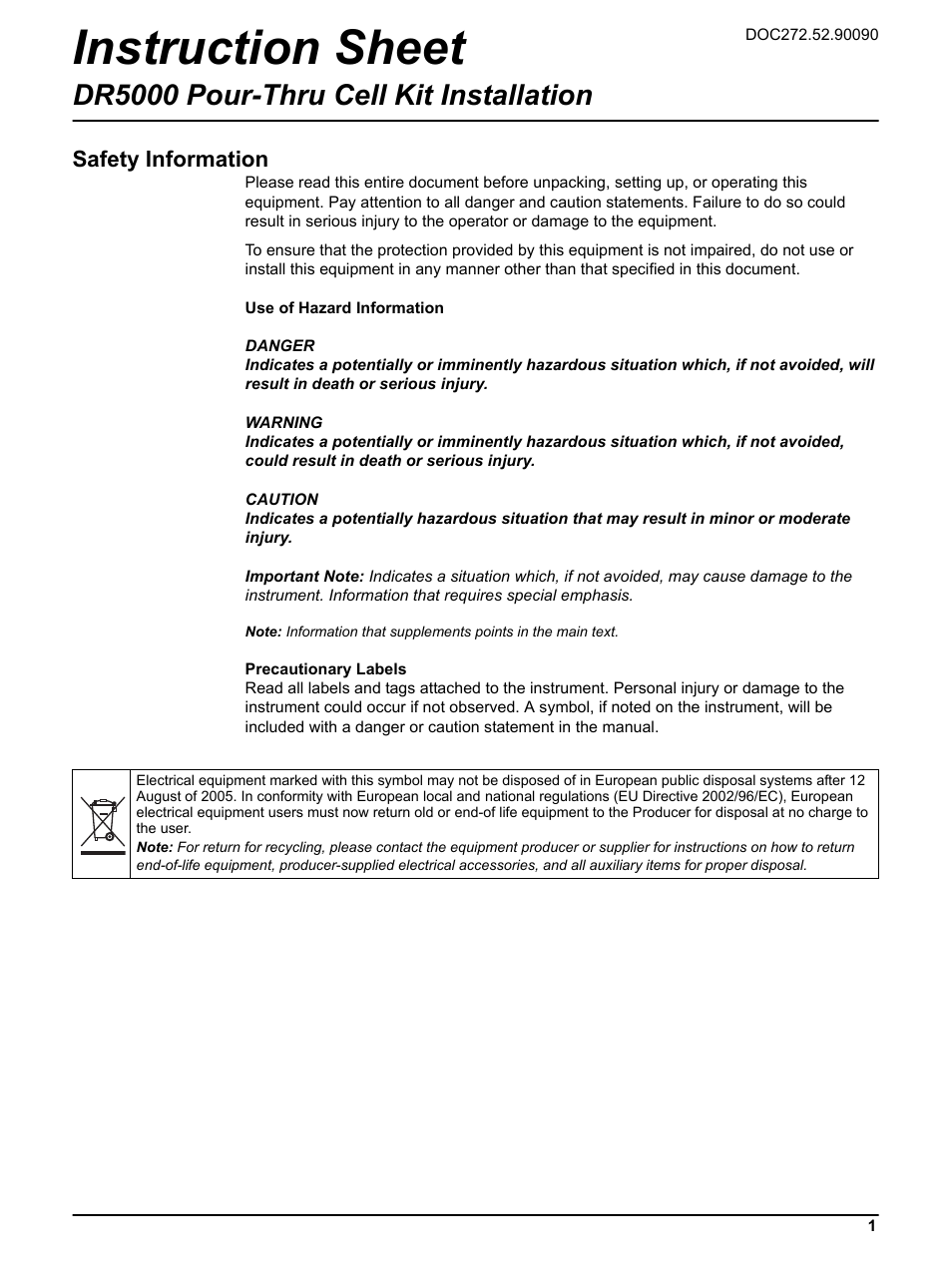 dr 5000 spectrophotometer user manual