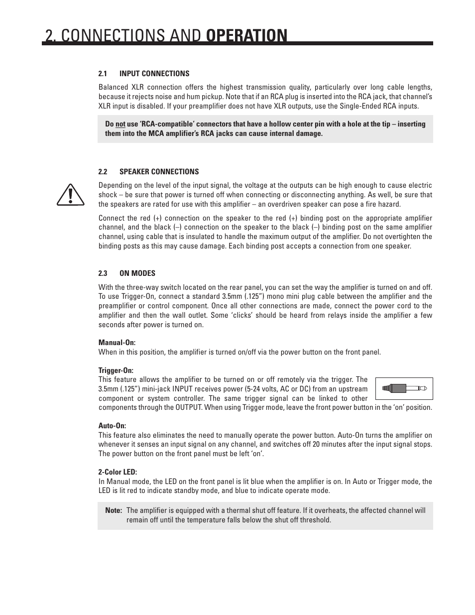 Connections And Operation Anthem Audio Mca 20 User Manual Page 6 Schematic Balanced Xlr To 12