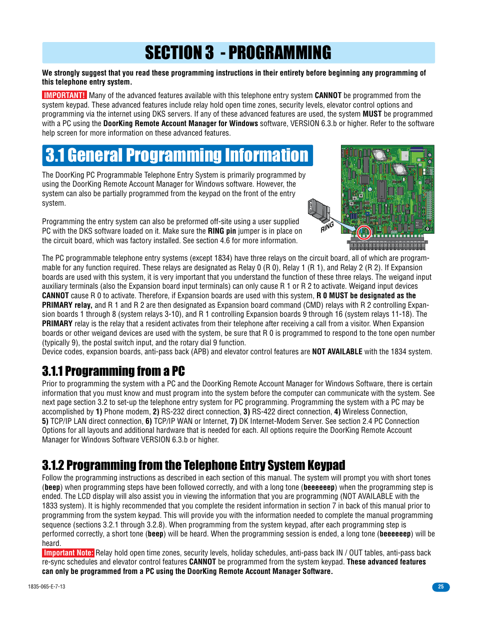 1 general programming information 1 programming from a pc Master code | DoorKing 1833 PC Programmable User Manual | Page 27 / 70  sc 1 st  manualsdir.com & 1 general programming information 1 programming from a pc Master ...