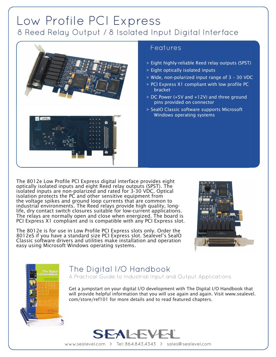 Impulse 8012e User Manual 2 Pages Reed Relay 5v Spdt