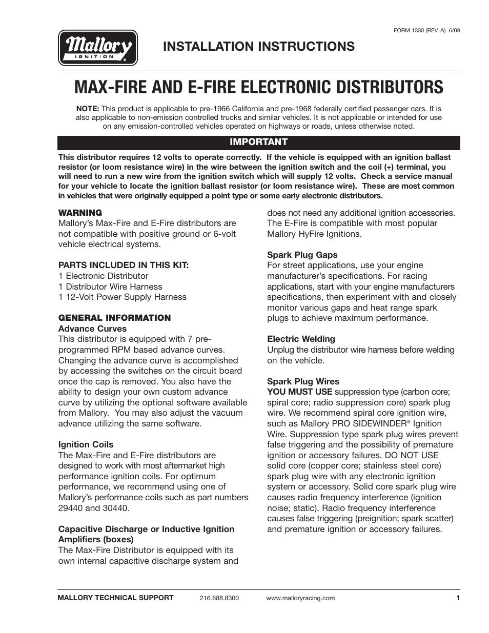 Modern Mallory Electronic Distributor Wiring Diagram Pattern ...
