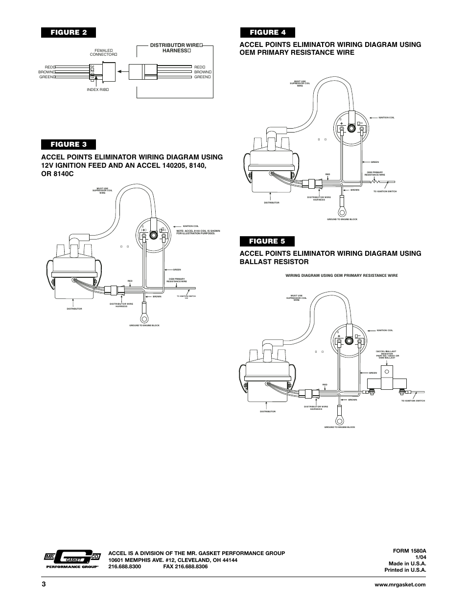 Accel Distributor Wiring Diagram : Figure distributor wire harness mallory