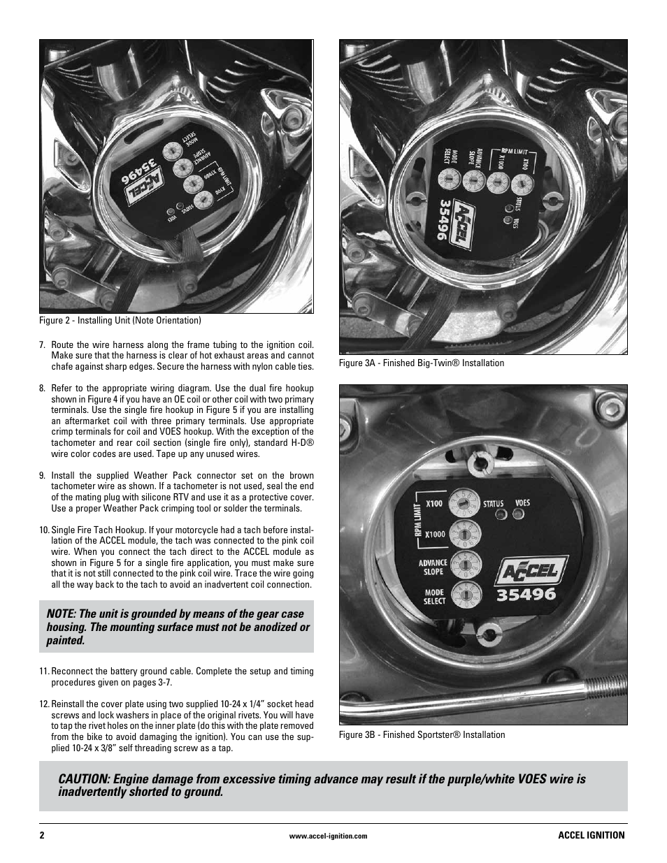 Mallory Ignition Accel 35496 User Manual Page 2 8 Rev Limiter Wiring Diagram