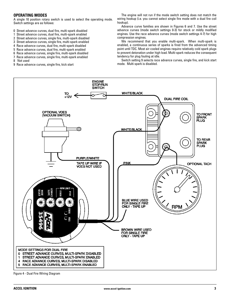 Mallory Ignition Accel Ignition 35496 User Manual Page 3 8 Chevy 350 Ignition  Wiring Diagram Accel Distributor Wiring Diagram