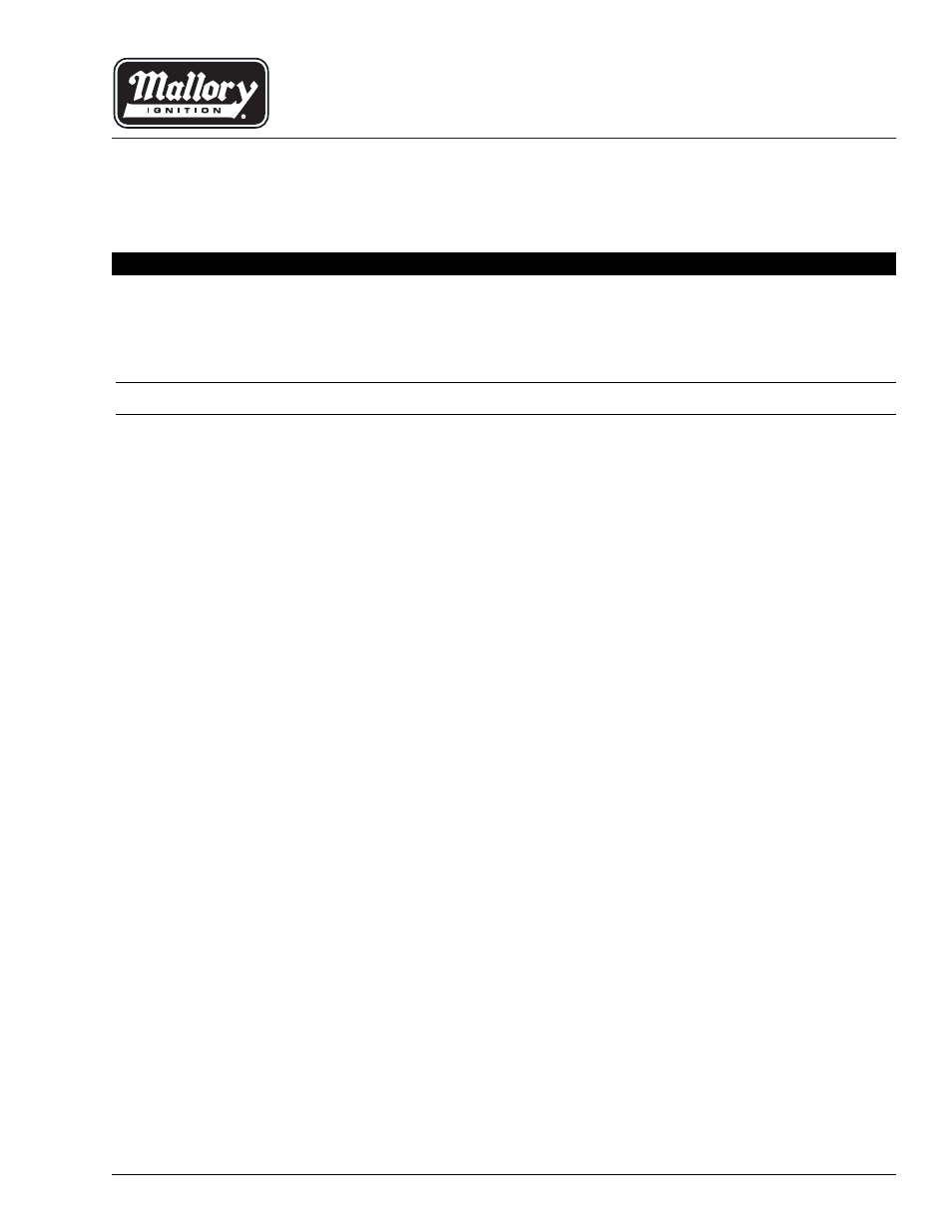 Mallory Ignition Mallory UNILITE DISTRIBUTOR User Manual | 13 pages on