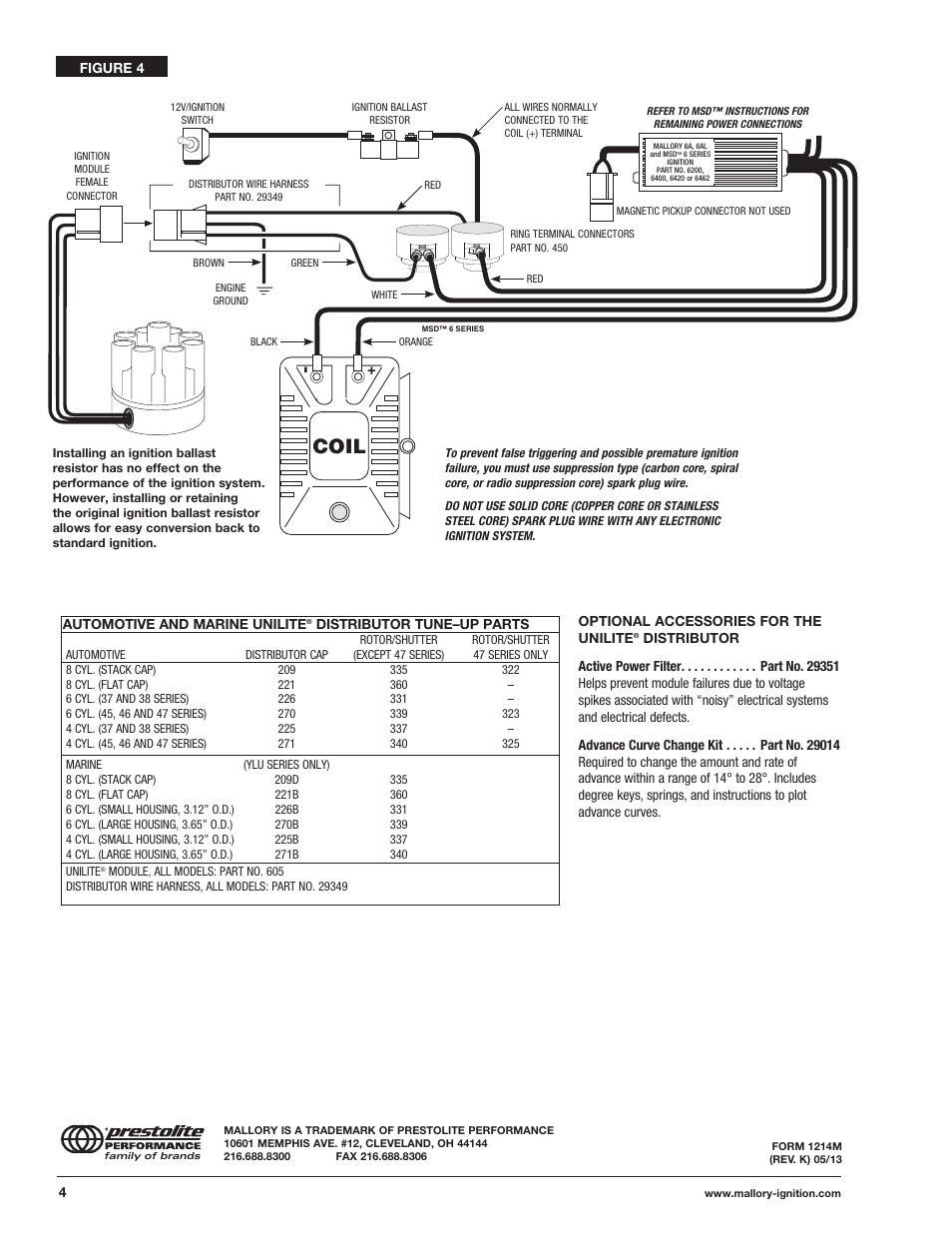 mallory ignition mallory unilite distributor 37_38_45_47 page4 coil mallory ignition mallory unilite distributor 37_38_45_47 mallory unilite distributor wiring diagram at mifinder.co