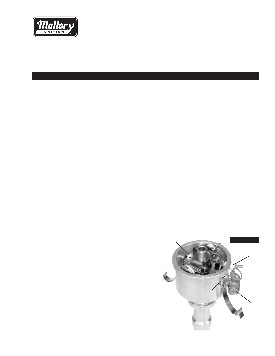 Mallory Ignition Unilite Electronic Breakerless Conversion Troubleshooting Kit 561 562 563 User Manual 4 Pages Also For