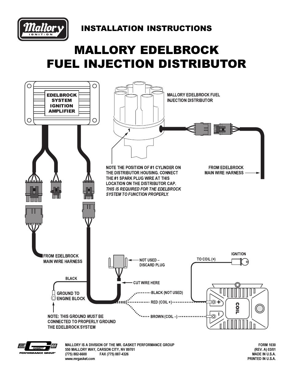 Mallory Unilite Instructions