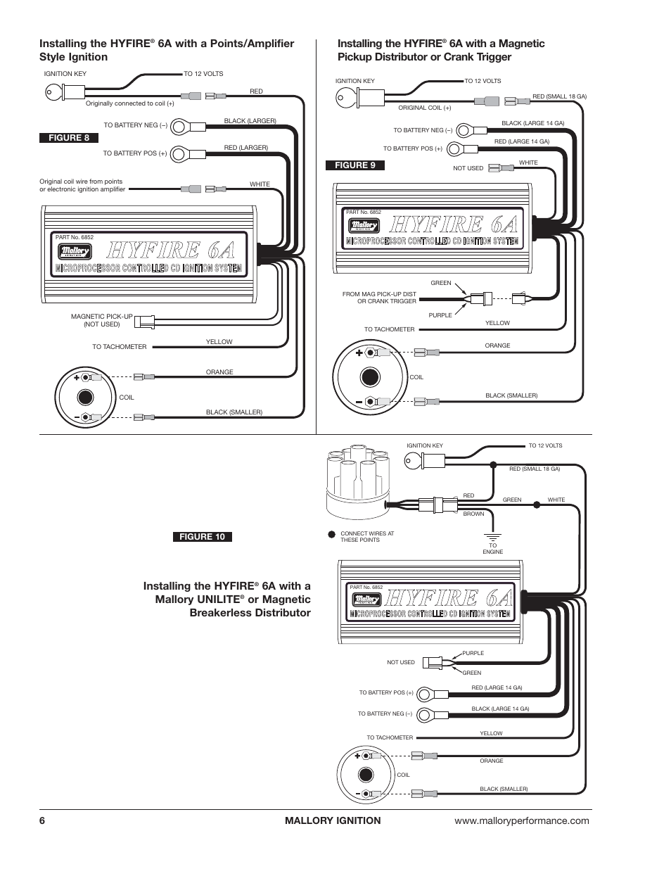 Mallory 6a Ignition Wiring Diagram All Kind Of Diagrams Electronic Distributor Hyfire And 6al Series Controls 6852m 6853m User Promaster