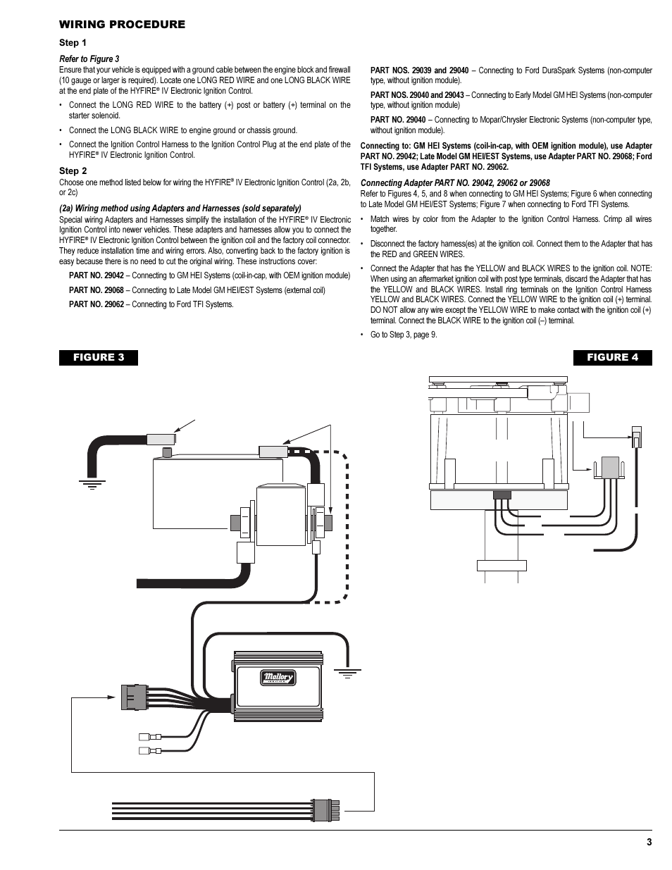 wiring procedure figure 4 12v battery mallory ignition mallory hyfire iv series ignition