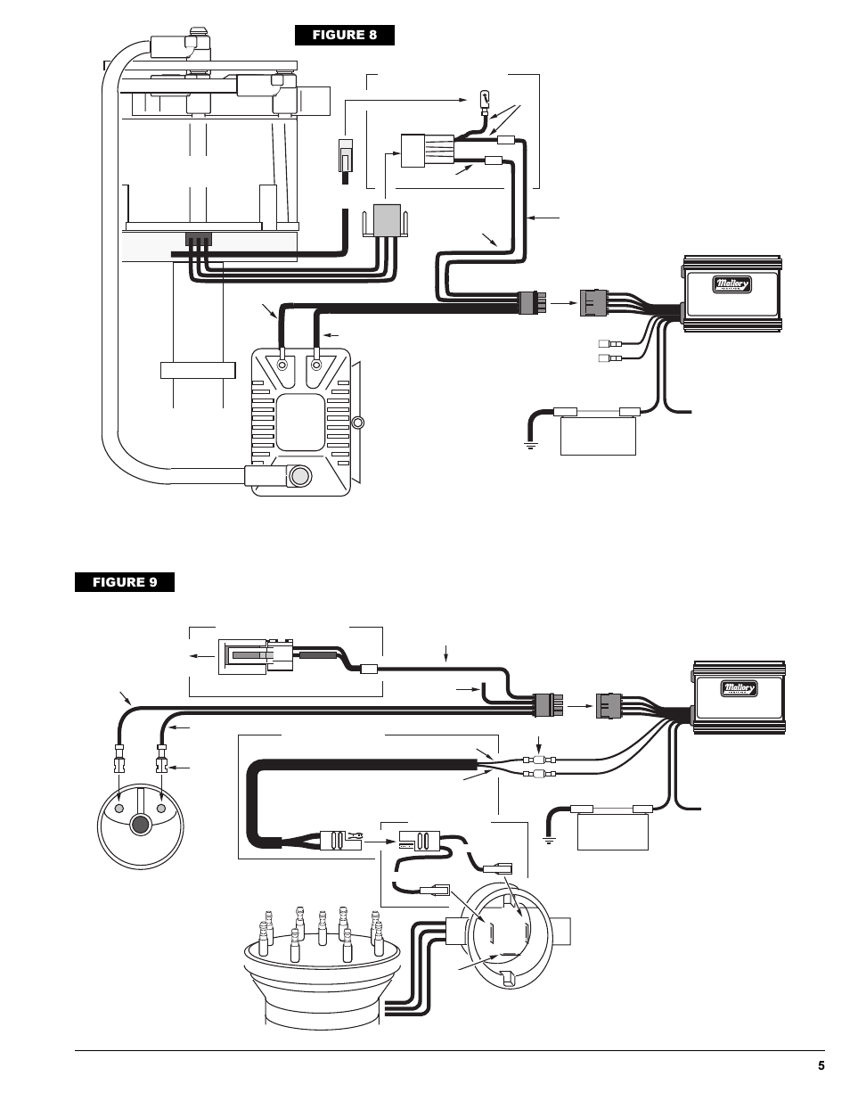 gm/delco hei distributor, ford and american motors, figure ... mallory hyfire6a wiring diagram mallory distributor wiring diagram with msd