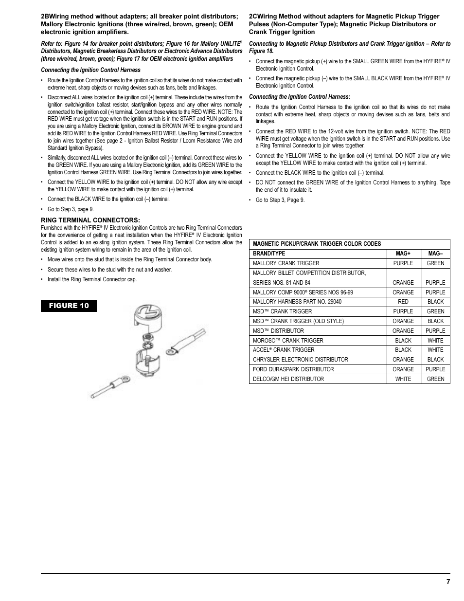 Mallory Ignition Mallory Hyfire Iv Series Ignition System 692 697 User Manual