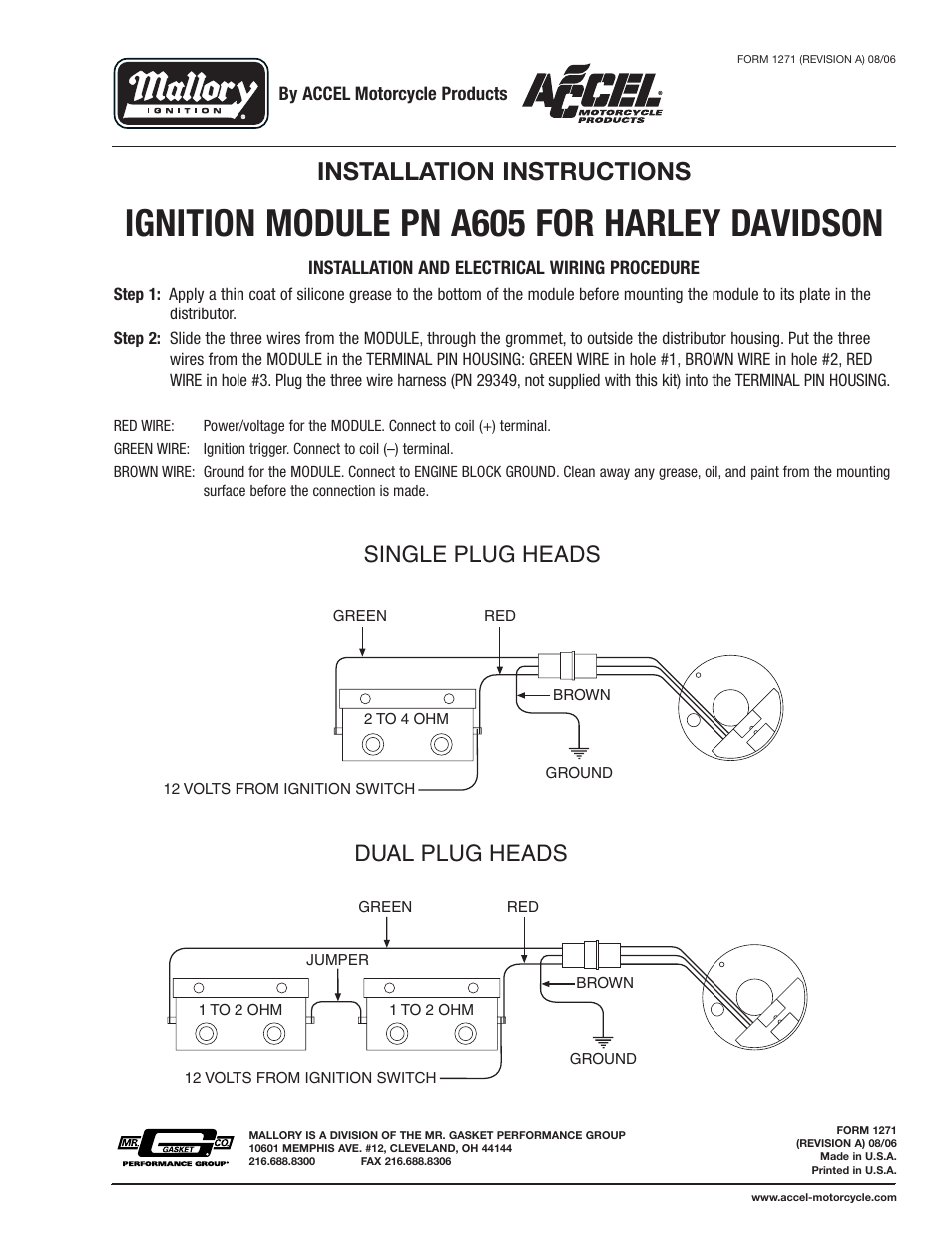 mallory ignition module wiring diagram efcaviation