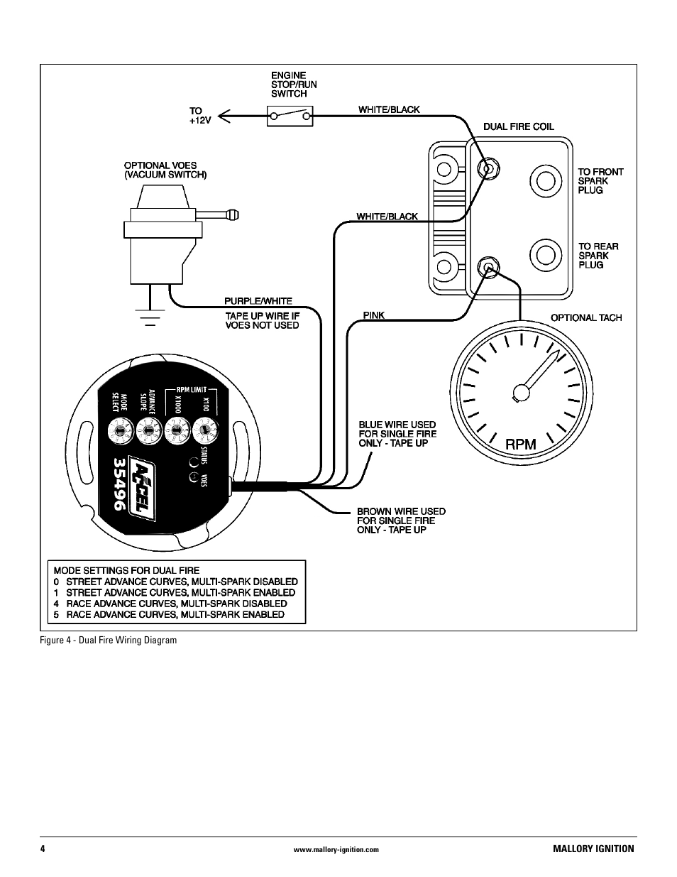 mallory ignition distributor wiring diagram mallory ignition mallory distributor   557 user manual page 4 8  mallory distributor   557 user manual