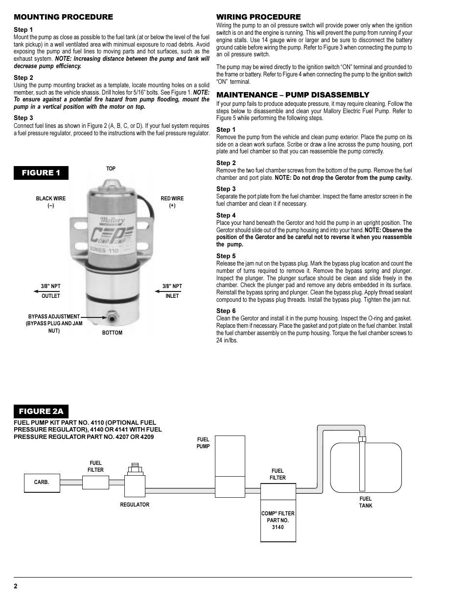 mallory ignition mallory comp pump series 110 and 140 electric fuel rh manualsdir com Nissan Fuel Pump Wiring Diagram Nissan Fuel Pump Wiring Diagram
