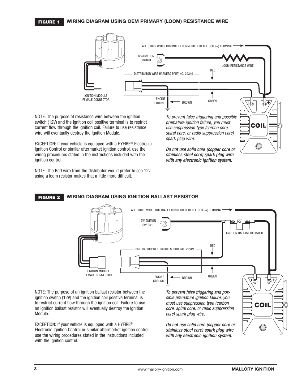 Mallory Ignition Distributor Wiring Diagram Worksheet And Gm Electronic Wire Magnetic Breakerless 609 User Rh Manualsdir Com Chevy Hei Module
