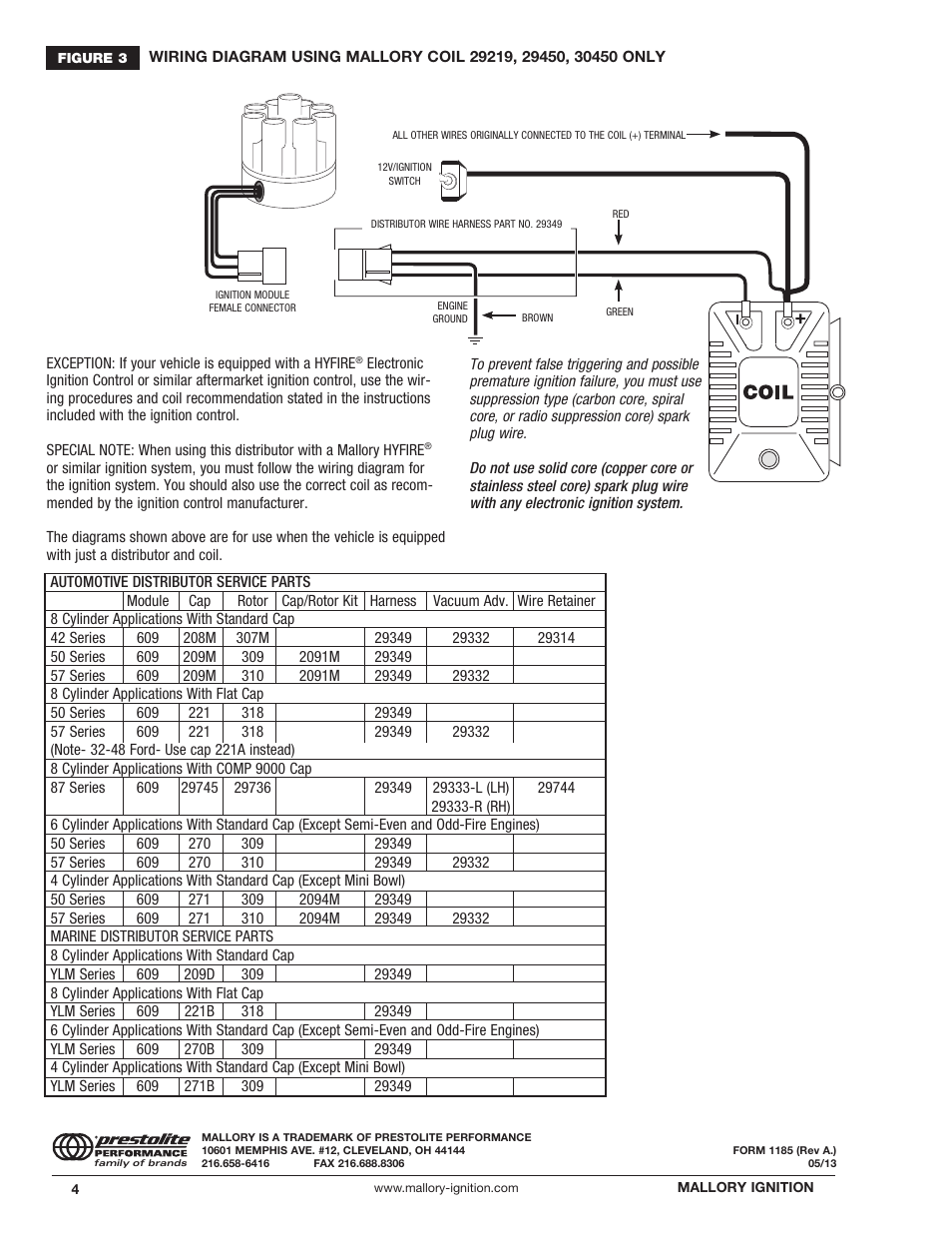 Breakerless Ignition Conversion Wiring Diagram Diagrams Mallory Unilite Electronic 42 Kit Pertronix