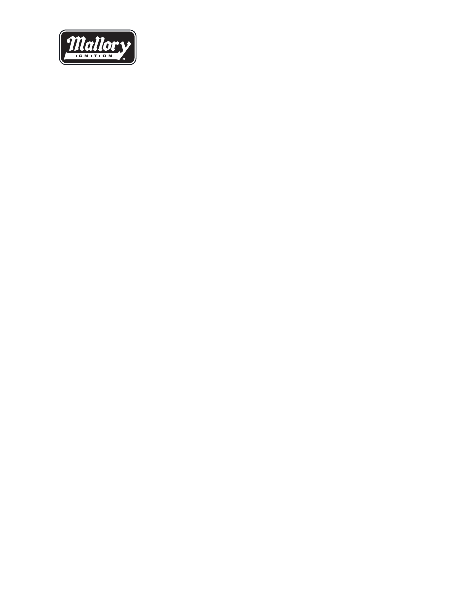 Mallory Ignition Mallory E-SPARK CONVERSION 61002M User Manual | 4 pages