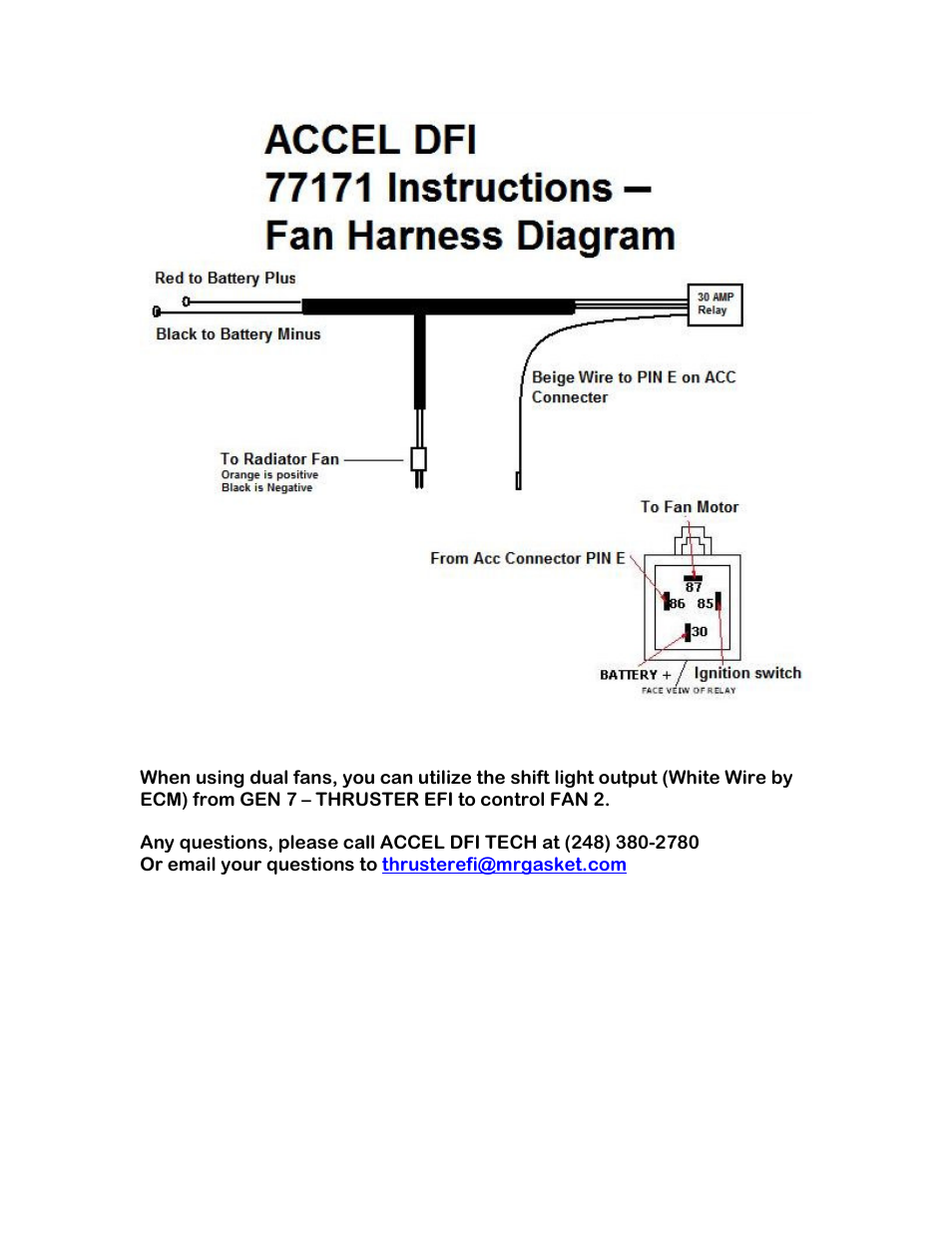Mallory Ignition ACCEL DFI PRO RAM 77171 User Manual   1 page on atwood rv water heater diagram, omc ignition switch diagram, inboard outboard motor diagram, basic car electrical system diagram, mallory high fire wiring-diagram, electronic ignition diagram, msd 6al diagram, mallory dist wiring-diagram, fairbanks morse magneto diagram, mallory carburetor diagram,