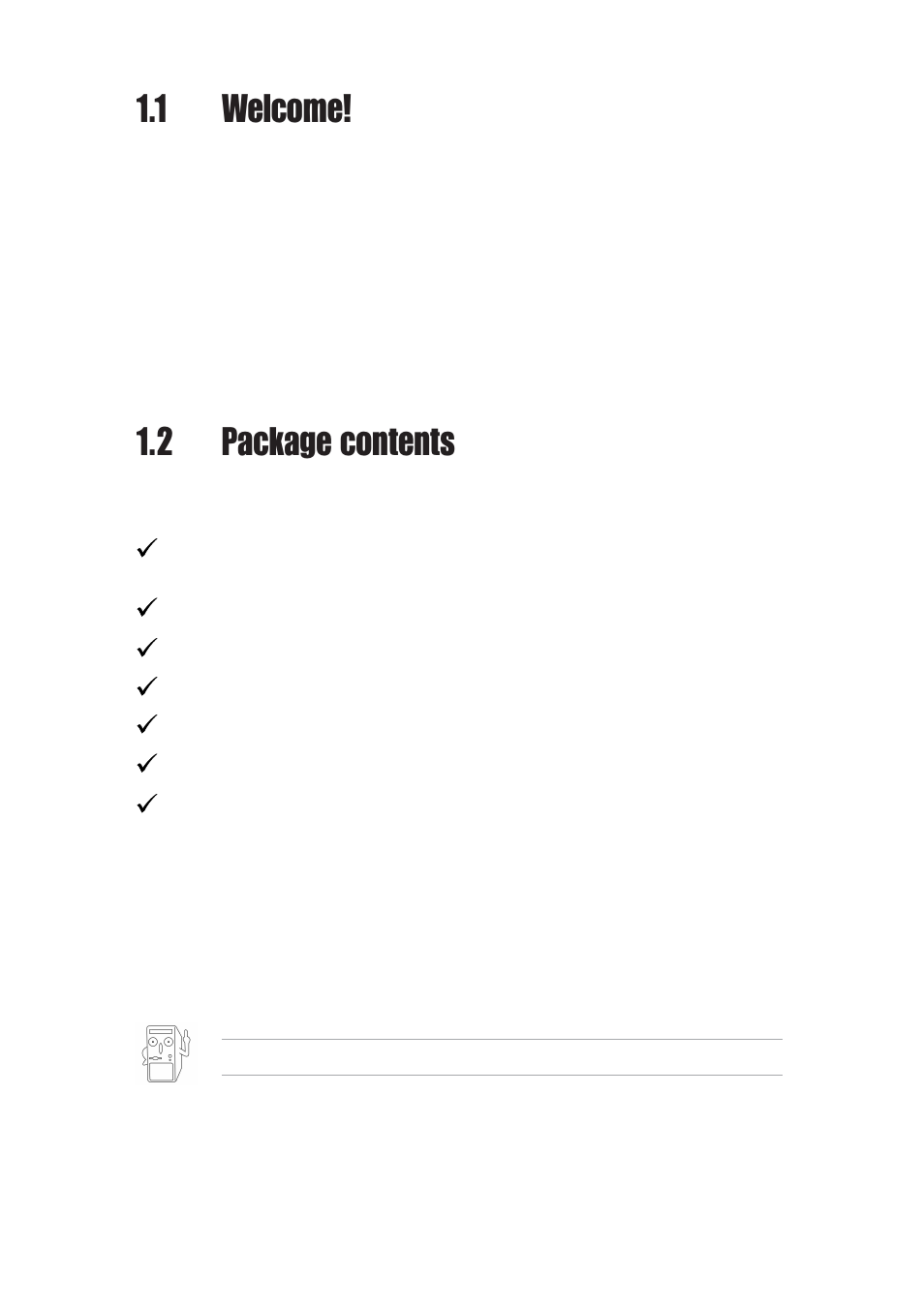 1 welcome, 2 package contents | Asus P4BGL-MX User Manual